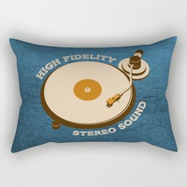 Hi-Fi Blue Rectangular Pillow
