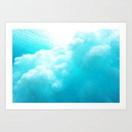 Underwater Explosion Art Print