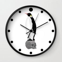 Penguins Standing Guard Wall Clock