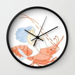The Magnificent Shrimp Rider Wall Clock