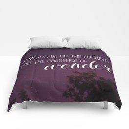 presence of wonder. Comforters