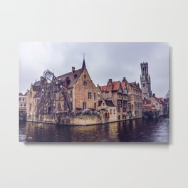 Brugge waterway Metal Print