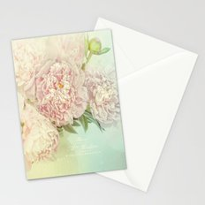 peony dream Stationery Cards
