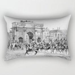 Napoleon I Reviewing His Troops Rectangular Pillow