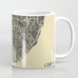 Lisbon map Coffee Mug