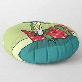 Eglantine la poule (the hen) is a gift Floor Pillow
