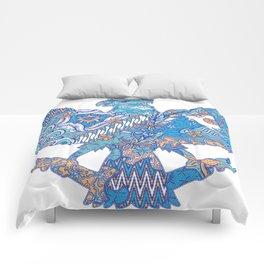 batik culture on garuda silhouette illustration Comforters
