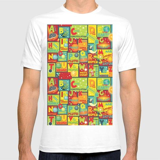 Space Alphabet T-shirt
