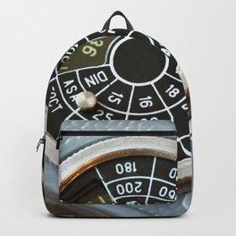 Wheel to set control sensitivity retro camera Backpack