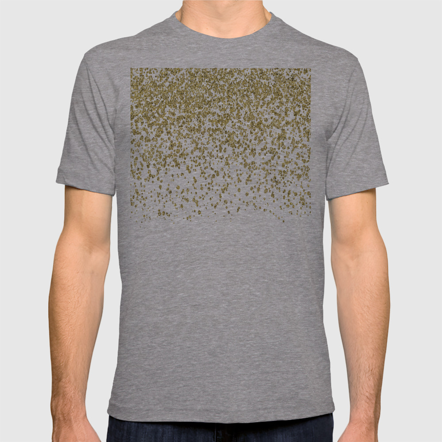 8cdcf0aab5f Sparkling gold glitter confetti on simple white background - Pattern T-shirt  by betterhome