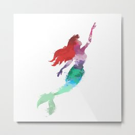 Ariel Little Mermaid Metal Print