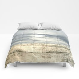 landscape 001: telegraph sky over white woods Comforters
