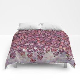 pink Veronica butterflies aflutter Comforters