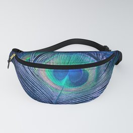 Peacock Feather Blush Fanny Pack