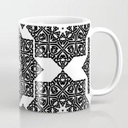 Celtic Knot Ornament Pattern Black and White Coffee Mug
