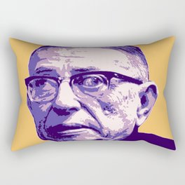 Jean-Paul Sartre Rectangular Pillow