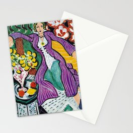 Woman in a Purple Coat 1937 by Henri Matisse, Artwork Design, Poster Tshirt, Tee, Jersey, Postcard Stationery Cards