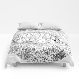 Colour-It-In Fish Poster Comforters