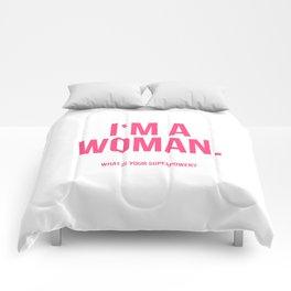 I'am a Woman Comforters
