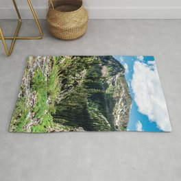 No Trails to the Top // Incredible Hiking Views Blissful Beauty Peaceful Landscape Photography Rug