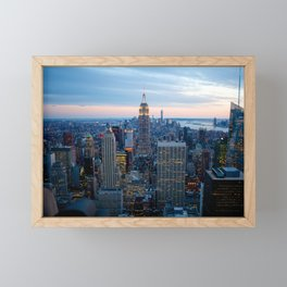 New York City Dusk Framed Mini Art Print