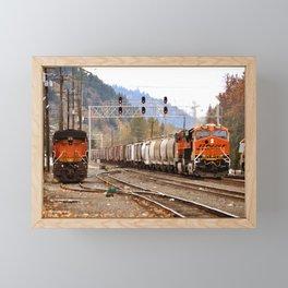 TRAIN YARD Framed Mini Art Print