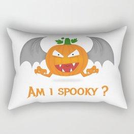 Funny spooky halloween pumpkin Rectangular Pillow