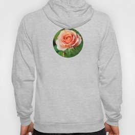 Garden pink rose flower blooming and two rose buds Hoody