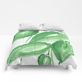 Green leafs Comforters