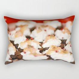 Salmon and rose pepper finger food Rectangular Pillow