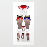 Harley Quinn Suicide Squad Leggings and Shirt V1 Art Print