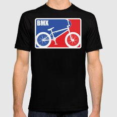 BMX Black LARGE Mens Fitted Tee
