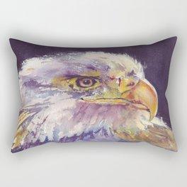 Bald eagle - the surveyor Rectangular Pillow