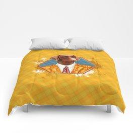 Hipster Dobermann - Doberman Pinscher Comforters