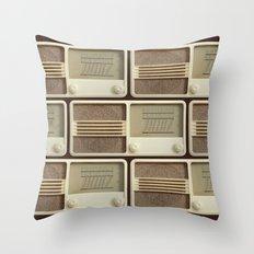 Vintage Sounds Throw Pillow