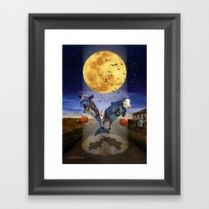 Halloween - Last Stop? Framed Art Print