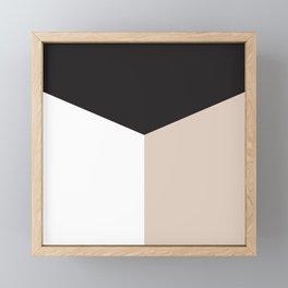 Blocked Sand Framed Mini Art Print