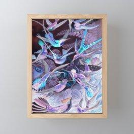 Ode to Haeckel's Hummingbirds Framed Mini Art Print