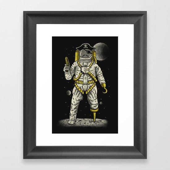 Astronaut Pirate Framed Art Print