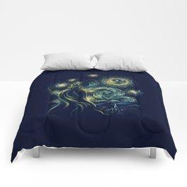 Death Starry Night Comforters
