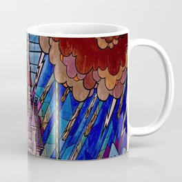 ROMANCE BEAUTY AND THE BEAST Castle Stained Glass Coffee Mug