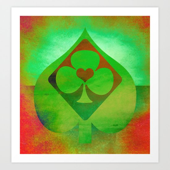 Full of Aces Art Print