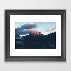 sunsets in paradise Framed Art Print