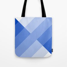 Blue and white angled Gradient Tote Bag