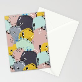 Four wheels purple Stationery Cards