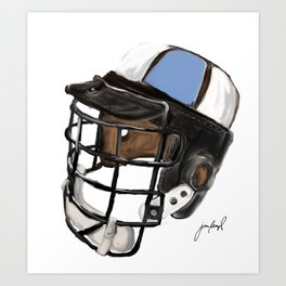 Homewood Helmet Art Print