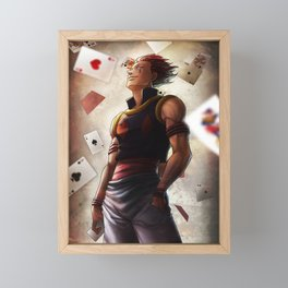 Hisoka (cards) Artwork Framed Mini Art Print