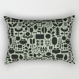 Organic motif pattern Rectangular Pillow