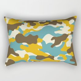Colorful camouflage pattern Rectangular Pillow