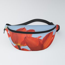 Bright Red Tulips Fanny Pack